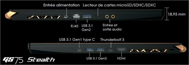 MSI GS - Réseau et connectique
