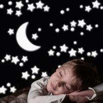 Crearreda - Sticker en relief en mousse phosphorescent forme étoiles Stars