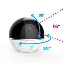 EZVIZ - C6T - Caméra de Surveillance FullHD 1080P 1920x1080 Ip Wifi- Alarme & Suivi des personnes - Motorisation - Vision panoramique 360° & nocturne 10m - Son bidirectionnel - Guide & Appli en français