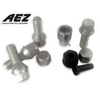 Aez - Lot de 4 vis 14x150 - L30mm - Antivol de Roues - Clef 17