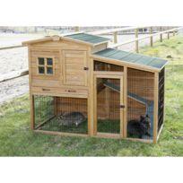 Kerbl - Fortuna - Clapier d'extérieur en bois pour lapins et cochons d'inde