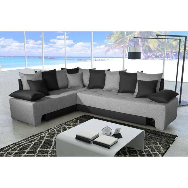 Rocambolesk Canapé Duo plus savana 21 gris /sawana 14 noir sofa divan