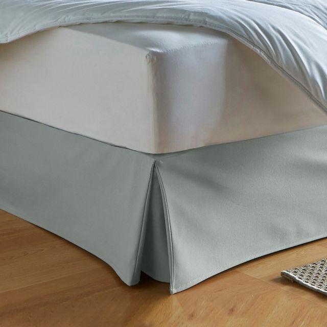 100pourcentcoton cache sommier 180x200 cm couleur gris pas cher achat vente prot ge. Black Bedroom Furniture Sets. Home Design Ideas