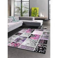 Les Tapis - Tapis Patchtende Tapis Moderne par violet 200 x 300 cm