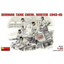 Miniart - Figurines 2ème Guerre Mondiale : Equipage de char allemand en tenue d'hiver 1943-1945