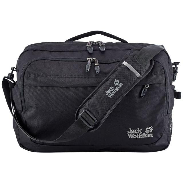 c8aadc3d1c Jack Wolfskin JackPot De Luxe sac à bandoulière noir lQu52SRIJ ...