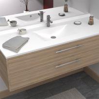 Plan simple vasque centrée RÉSIPLAN - 120 cm