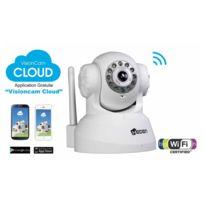 Camera IP VisionCam Cloud, intereur motorisee, V2,4 Blanc
