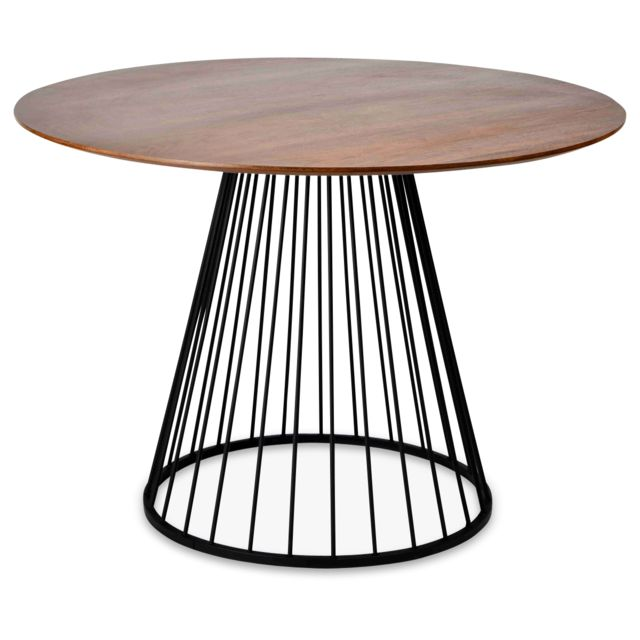 Table Ronde Pied Metal Noir
