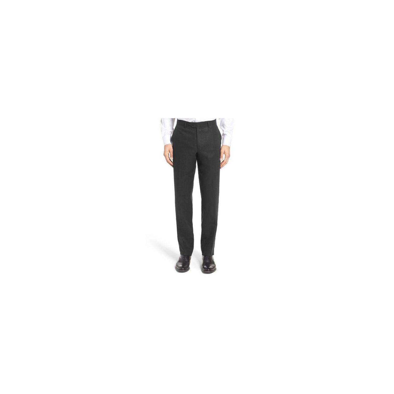 KEBELLO- Pantalon Lin Noir 405e3777208d