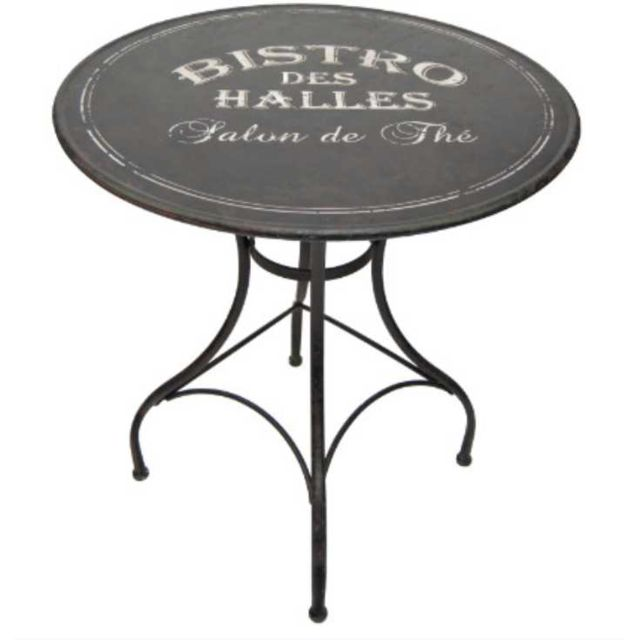 ANTIC LINE CREATIONS - Table métal bistro des halles Multicolore - 80cm x 76cm x 80cm - Non extensible