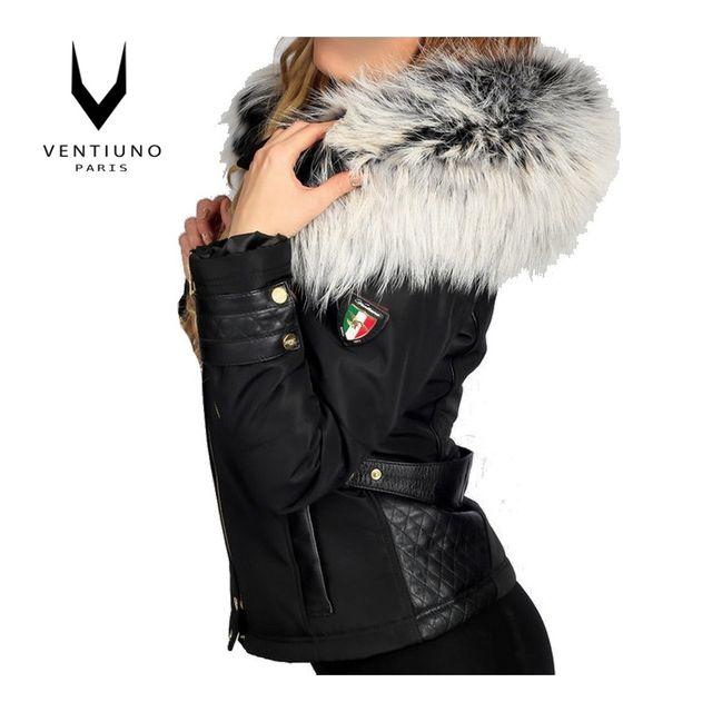 Manteau cuir pour femme pas cher