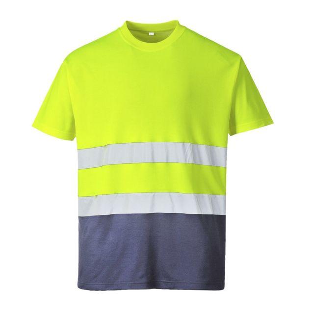 PORTWEST Tee shirt Haute Visibilité Coton Bicolore