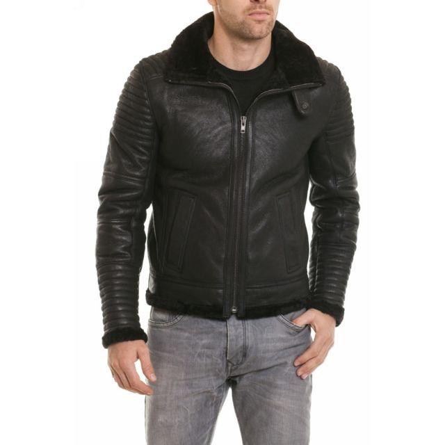 Segura - Blouson Hermes black - pas cher Achat   Vente Blouson homme -  RueDuCommerce 2ee83c7e76b