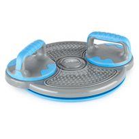 KLARFIT - Klartwist Power Plaque Twister 3en1 Planche d'équilibre + Barres Pushup