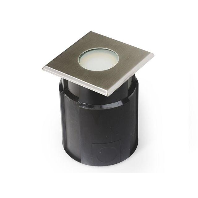 Easy Connect Spot A Encastrer Carre Pour Terrasse Beton 10 X10 Cm