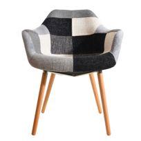 fauteuil anssen patchwork achat fauteuil anssen patchwork pas cher rue du commerce. Black Bedroom Furniture Sets. Home Design Ideas