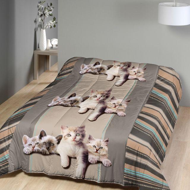 marque generique couette imprim e 220x240 cm chatons 220cm x 240 cm pas cher achat vente. Black Bedroom Furniture Sets. Home Design Ideas
