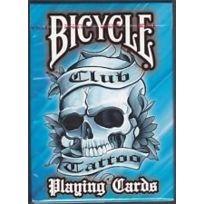 Bicycle - Blue Tattoo cartes à jouer Bleu