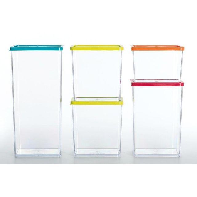 Paris Prix Lot de 5 Boîtes de Conservation Plastique \