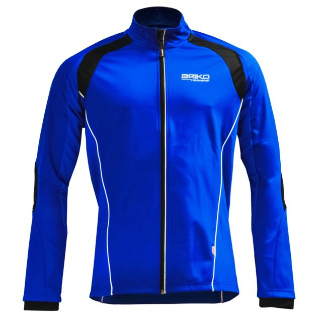 Briko - Wind Out Training Jersey Bleu Veste de ski de fond homme Multicolore