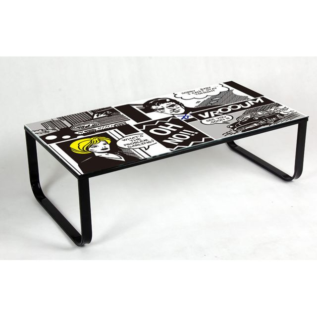 Sofamobili Table basse décor Bd rétro design Darling