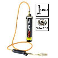 Providus - Pack chalumeau gaz à tuyau Av084. Chalumeau a gaz + cartouche 330g de gaz à valve 7/16