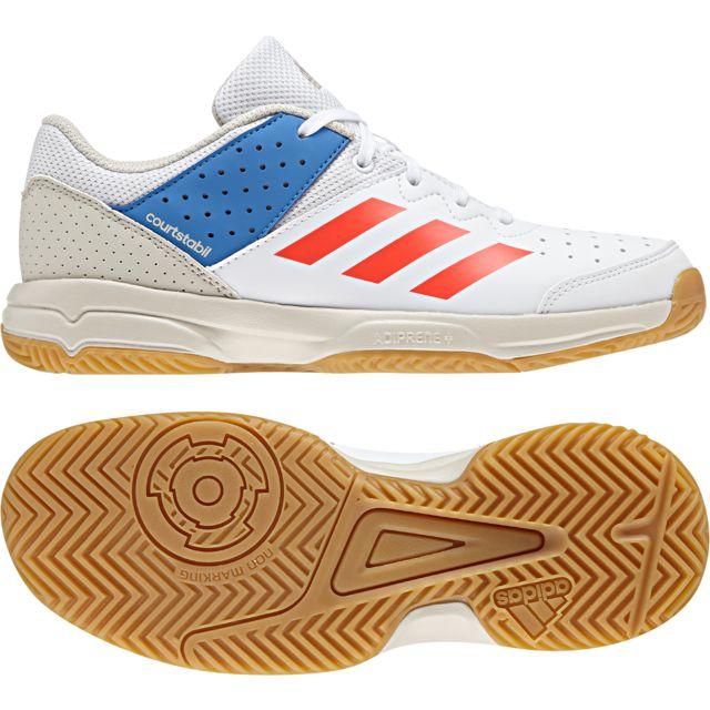 newest b97bf 43925 Adidas - Chaussures junior Court Stabil - pas cher Achat   Vente Chaussures  hand - RueDuCommerce