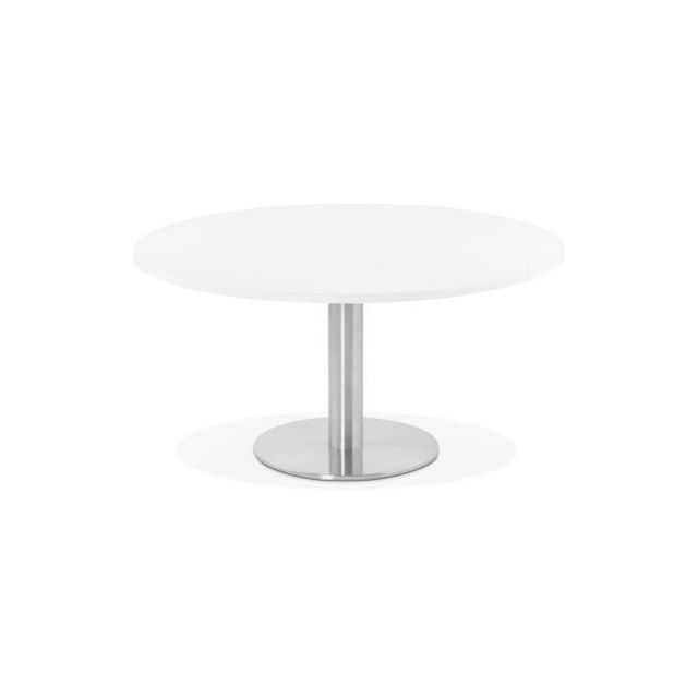Declikdeco Table Basse Ronde Blanche Pravia
