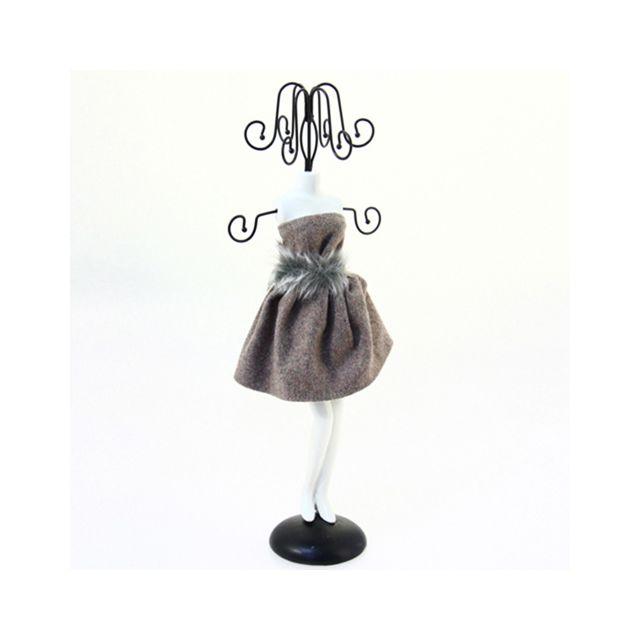 Atmosphera - Mannequin porte bijoux Robe courte - Gris - pas cher ... 85cb4d331d43