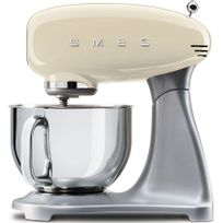 SMEG - robot sur socle 4,8l 800w creme - smf01creu