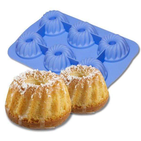 Totalcadeau Moule à muffins en silicone 6 cannelés