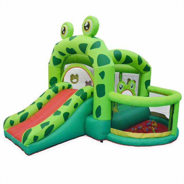 ALICEu0027S GARDEN Structure Gonflable Kermit 3,2m   Toboggan Gonflable, Piscine  à Boules,
