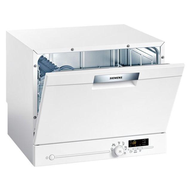 SIEMENS lave-vaisselle compact 6 couverts a+ pose-libre blanc - sk26e221eu