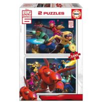 Educa Borras - Puzzle 2 x 100 pièces : Big Hero 6