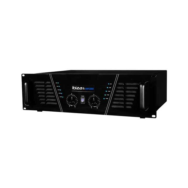 Ibiza Amplificateur sono 2 x 1500 W Max Amp-2000-S
