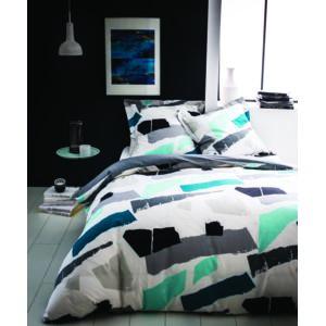 tex home parure papier housse de couette 1 taie d 39 oreiller en coton pas cher achat vente. Black Bedroom Furniture Sets. Home Design Ideas