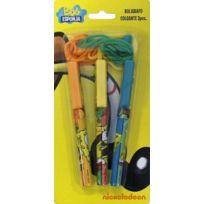 Bob L'EPONGE - Lot de 3 stylos tour de cou