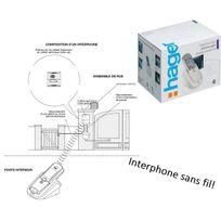 Hager - Kit interphone Sans Fil, portée 400m, platine de rue+alim Solaire+tèl
