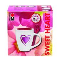 "Marabu - Kit Peinture Porcelaine, Set De Tasses ""SWEET Heart"