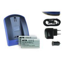 mtb more energy® - 2 Batteries + Chargeur USB, Cr-v3 pour Pentax K100D, K110D / Optio 230, 330 Gs