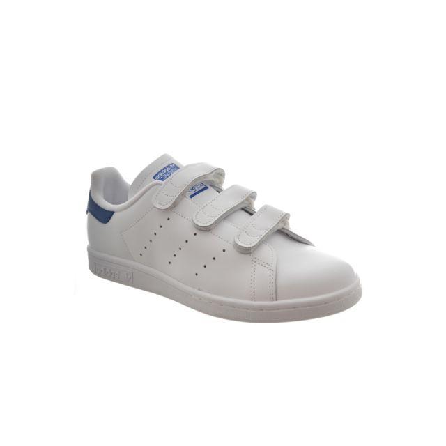 separation shoes ac463 4ad37 Adidas - Baskets mode originals stan smith cf blanc - pas cher Achat   Vente  Baskets homme - RueDuCommerce