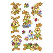 """Herma - Feuille De 10 Stickers De Paques Magic """"JOYEUX Lapins"""", Yeux Mobiles 6419"""