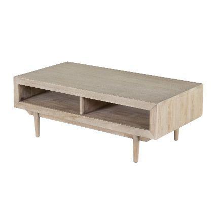 Table basse 120x60x43cm en teck gris - Xeki