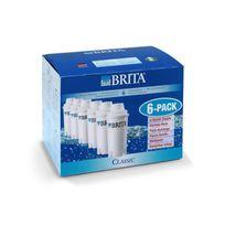 Brita - Pack de 6 cartouches filtratantes Classic blanc
