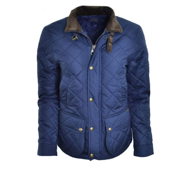 8dd2670288136 Ralph Lauren - Veste cavalière Ralph Lauren bleu marine cadwell pour femme