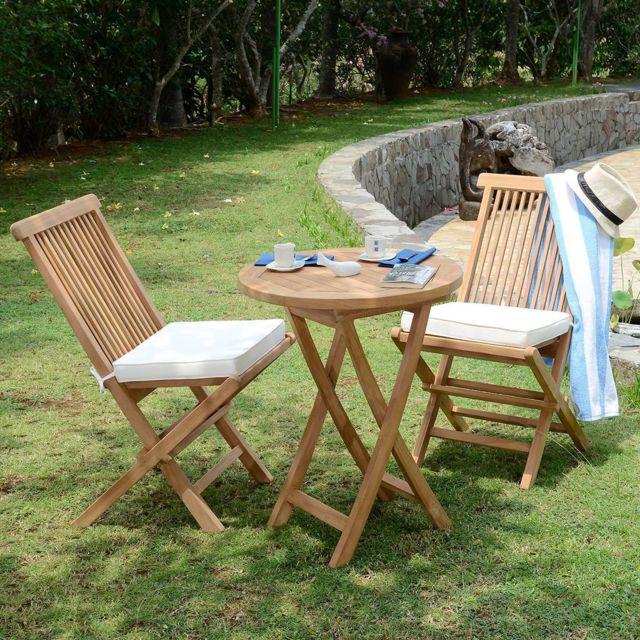 Salon de jardin en teck qualité Ecograde Lisbonne, 2 places