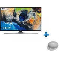 Samsung - TV LED 55'' - 55MU6125 + Enceinte intelligente - Google Home mini
