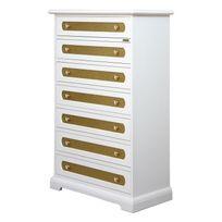 Arteferretto - Chiffonnier 7 tiroirs avec glitter doré