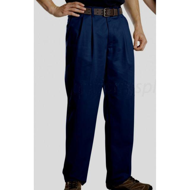 Charmant Universel   Pantalon Dickies Bleu Foncé A Pince Homme 46 Francais Style  Rockabilly